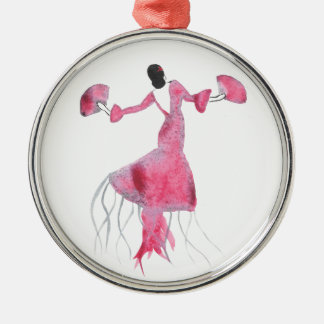 Flamenco-Quallen - Sabrina Silbernes Ornament