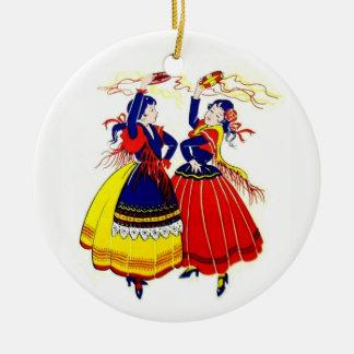 Flamenco-Tänzer Keramik Ornament