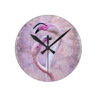 Flamenco-Uhr Runde Wanduhr