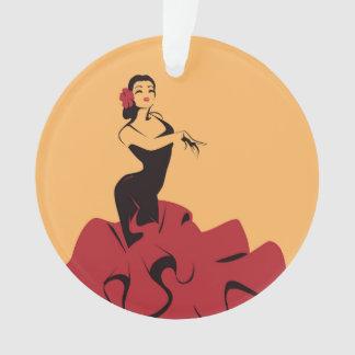 Flamencotänzer in einer großartigen Pose Ornament