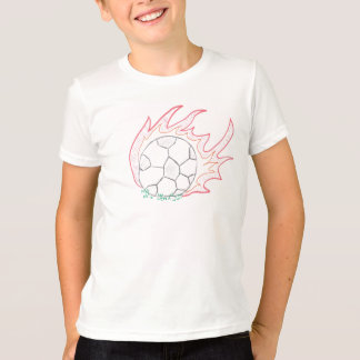 Flamin Fußbalball-T - Shirt