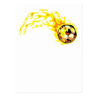 Flamin Fußball Postkarte