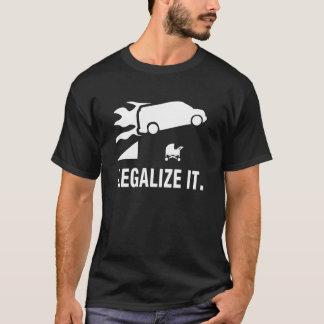 Flaming Van Jumping:  Legalisieren Sie es T-Shirt