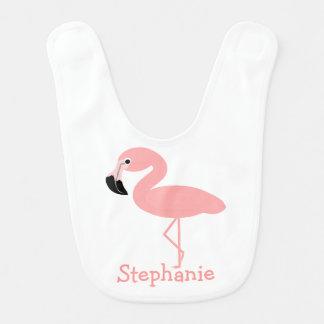 Flamingo addieren gerade Namen Babylätzchen