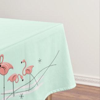 Flamingo-Aqua-Gruppengrenztischdecke Tischdecke