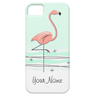 "Flamingo-Aqua-""Name"" iPhone 5 Fall Schutzhülle Fürs iPhone 5"