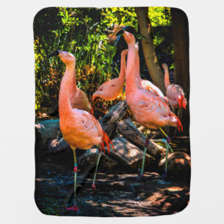 Flamingo-Aquarell Puckdecke