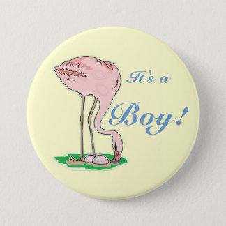 Flamingo-Baby Runder Button 7,6 Cm