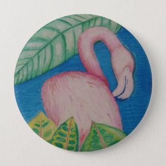 Flamingo-Button Runder Button 10,2 Cm