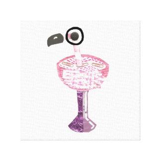 Flamingo-Cocktail-Leinwand Leinwanddrucke