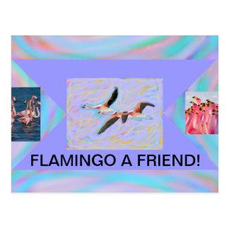 Flamingo eine Freundpostkarte Postkarte