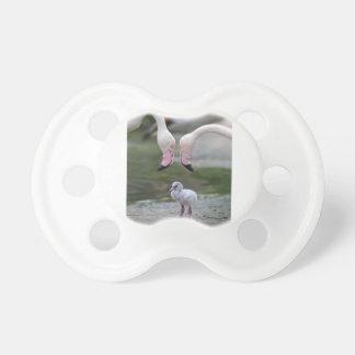 Flamingo-Elternschaft Schnuller