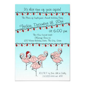 Flamingo-Feiertags-Party 12,7 X 17,8 Cm Einladungskarte