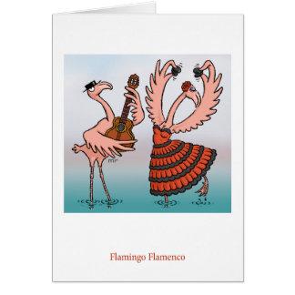 Flamingo-Flamenco-Karte Grußkarte