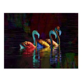 Flamingo-Geschenke Postkarten