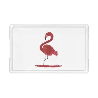 Flamingo-Grafik Acryl Tablett