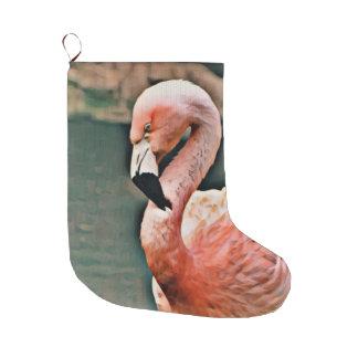 Flamingo Großer Weihnachtsstrumpf