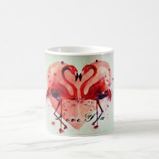 Flamingo Heart / Love You - Tasse/Cup Kaffeetasse