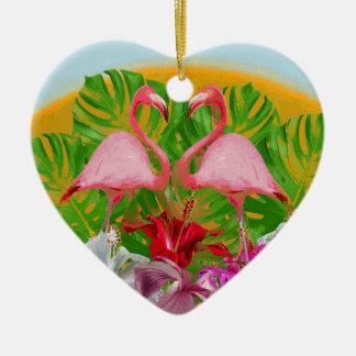 Flamingo Keramik Ornament