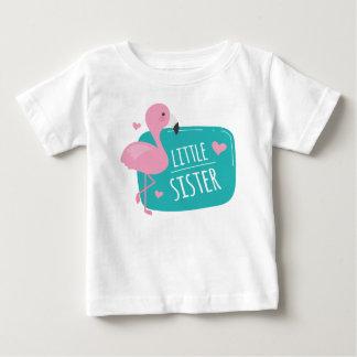 Flamingo-kleine Schwester Baby T-shirt