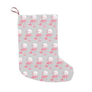 Flamingo-Liebe deckte den doppelseitigen Strumpf Kleiner Weihnachtsstrumpf