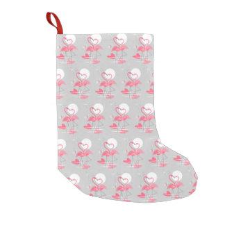 Flamingo-Liebe deckte den einseitigen Strumpf mit Kleiner Weihnachtsstrumpf
