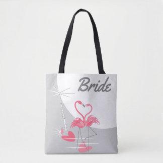 Flamingo-Liebe-große Mond-Braut-Taschentasche Tasche
