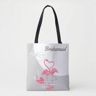 Flamingo-Liebe-große Tasche