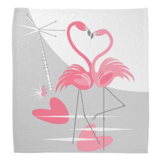 Flamingo-Liebe-großer Mond Bandana Kopftuch