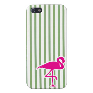 Flamingo-Liebe iPhone 5 des Streifens rosa iPhone 5 Cover
