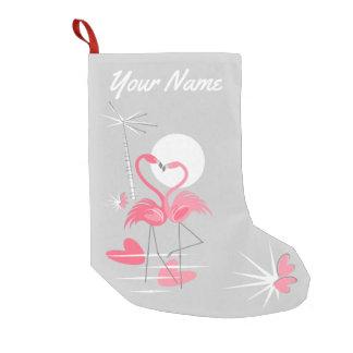 Flamingo-Liebe-Namen-Strumpf einseitig Kleiner Weihnachtsstrumpf