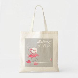 Flamingo-Liebe-Seiten-Mutter der Tragetasche