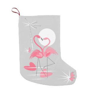 Flamingo-Liebe-Strumpf doppelseitig Kleiner Weihnachtsstrumpf