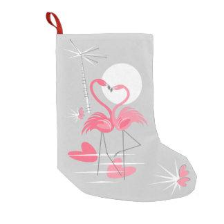 Flamingo-Liebe-Strumpf einseitig Kleiner Weihnachtsstrumpf