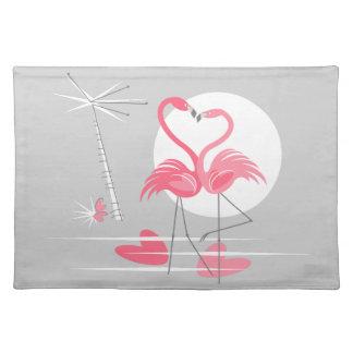 Flamingo-Liebe-Tischsetstoff Tischset