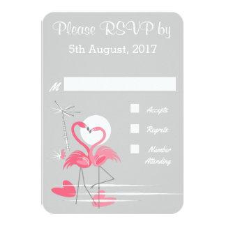 Flamingo-Liebe wedding UAWG 8,9 X 12,7 Cm Einladungskarte