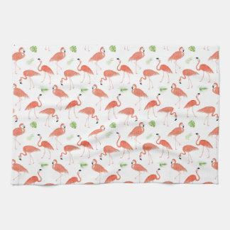 Flamingo-Muster-Aquarell-Geschirrtuch Geschirrtuch