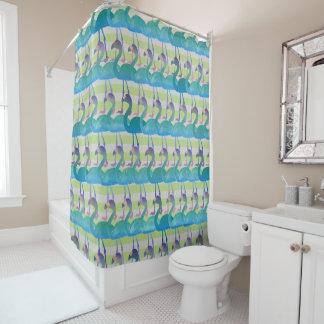 Flamingo-Muster-Duschvorhang (MultGrn) Duschvorhang