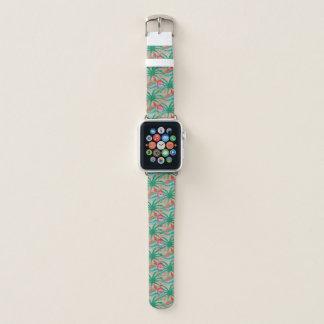 Flamingo-Palme-Leinwand-Blick Apple Watch Armband