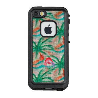 Flamingo-Palme-Leinwand-Blick LifeProof FRÄ' iPhone SE/5/5s Hülle