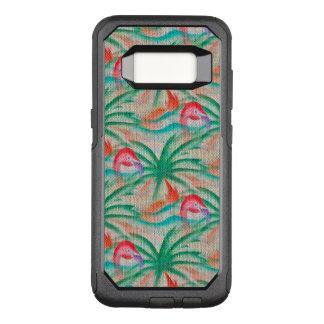 Flamingo-Palme-Leinwand-Blick OtterBox Commuter Samsung Galaxy S8 Hülle