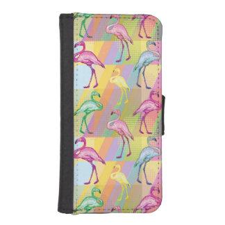 Flamingo-Parade iPhone SE/5/5s Geldbeutel
