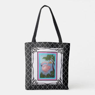 Flamingo-Paradies-Tasche 2 Tasche