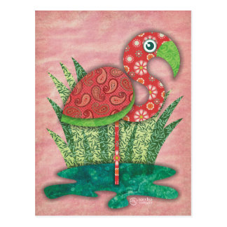 Flamingo-Postkarte