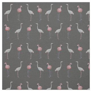 Flamingo-Raserei-Gewebe (grau) Stoff