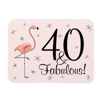 Flamingo-Rosa 40 und fabelhafter Magnet flexibel