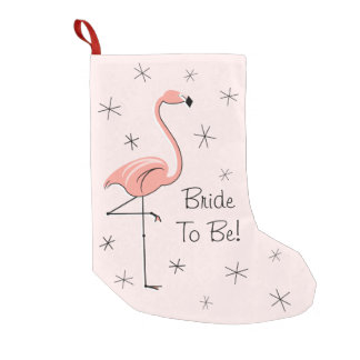 Flamingo-rosa Braut zum zu sein! Strumpf einer mit Kleiner Weihnachtsstrumpf