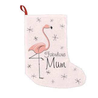 Flamingo-rosa fabelhafter Mama-Strumpf einer mit Kleiner Weihnachtsstrumpf