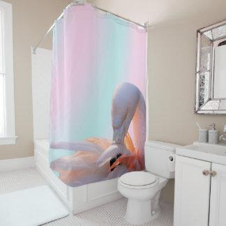 Flamingo-rosa Minze Duschvorhang