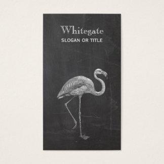 Flamingo-rustikale schwarze Visitenkarte